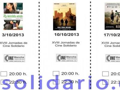 XVIII JORNADAS DE CINE SOLIDARIO 2013